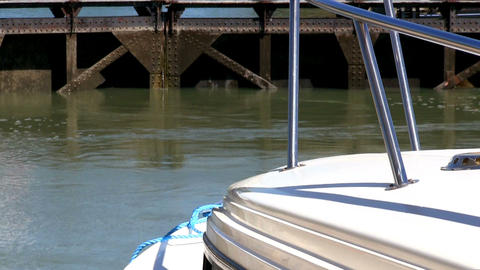 Navigation lock is filling water Stock Video Footage