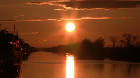 Dawn on the river Stock Video Footage