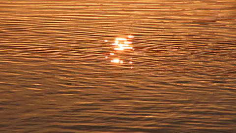Sun reflection in water surface Stock Video Footage