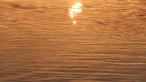 Sun reflection in water surface Footage