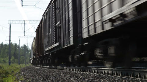Freight train in motion Stock Video Footage