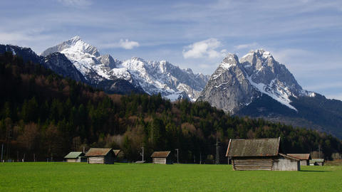 Spring in Bavarian Alps Stock Video Footage