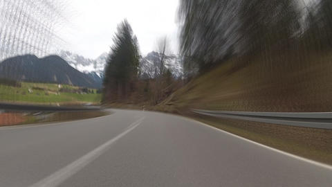 Driving in Bavarian Alps Stock Video Footage