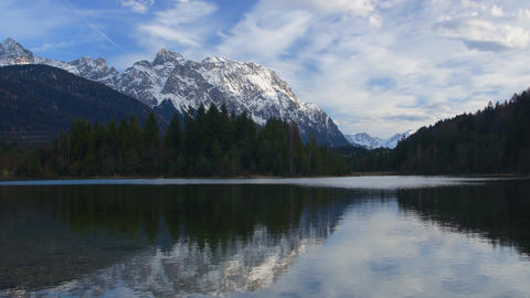Bavarian lake in Alps Stock Video Footage