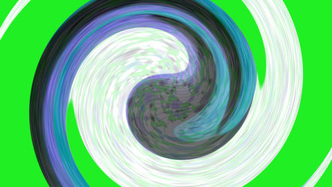 Tai Chi meditation symbol,Chaos world,swirl circle in space,rotation curve round Animation
