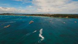 Riders on jet ski. Boracay island Philippines Footage
