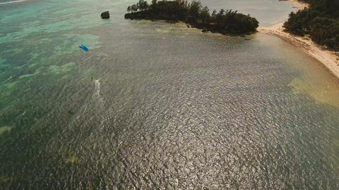 Kitesurfing on island Boracay and Bulabog Boracay island Philippines Footage