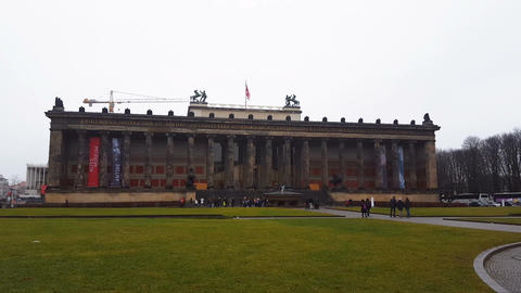 Berlin, Germany The Altes Museum, Old Museum facade Stock Video Footage