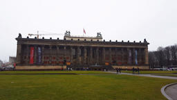 Berlin, Germany The Altes Museum, Old Museum facade Footage