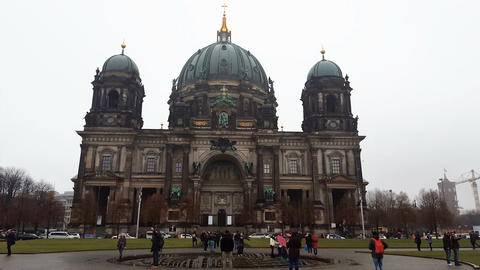 Berlin, Germany Berliner Dom, Berlin Cathedral facade Live Action