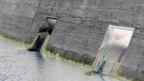 Reservoir Outlet with inversion filter Footage