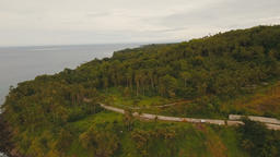 Aerial view beautiful coastline on the tropical island. Camiguin island Philippi Footage