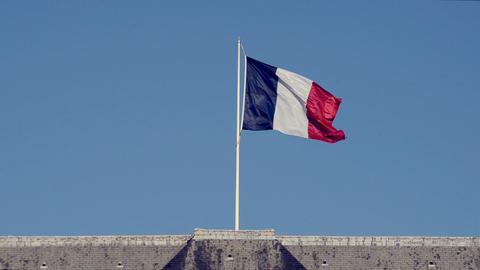 Paris, France - Video - French Flag Live Action