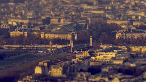 Paris, France - Timelapse - Alexander III Bridge Footage