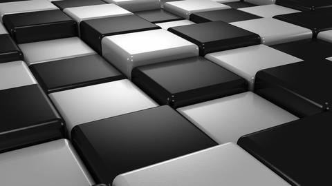 White and Black Cubes Animation
