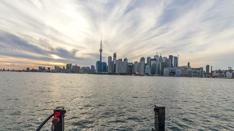 Toronto, Canada - Timelapse - The Skyline of Toronto from a boat Footage