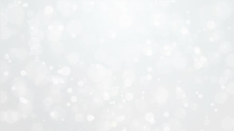 Silver white background with light bokeh particles Animation