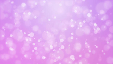 Purple pink background with moving particle lights Animation