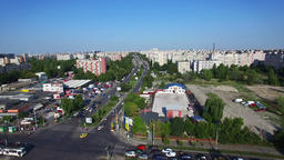 Aerial view of Bucharest city, Romania Footage