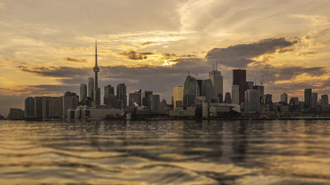 Toronto, Canada - Timelapse - Daytime from Polson Pier Footage
