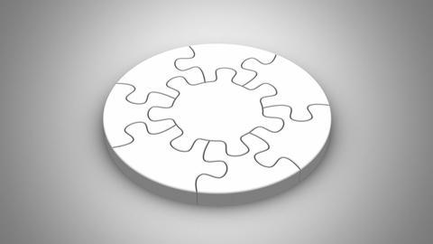 Falling Puzzles Create A Circle Videos animados