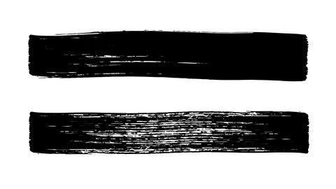 Brush stroke. Underline and border. Seamless looping... Stock Video Footage