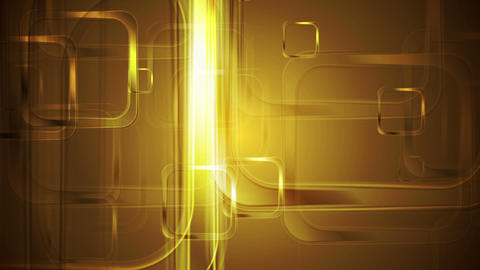 Golden glossy squares abstract geometric motion design Animation