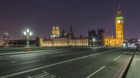 London, UK, Timelapse - Big Ben at Night Footage