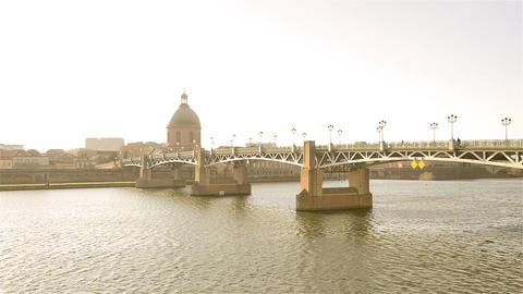 Toulouse, France - Video - The Pont Saint-Pierre Footage