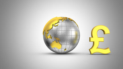 World Currencies Rotate Around the Earth Animation