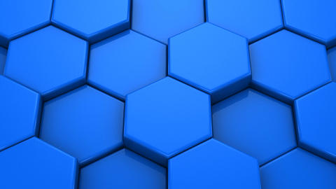 Hexagons Form a Map of the World Stock Video Footage