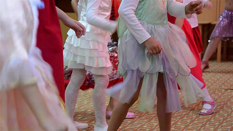 Children dressed in gypsy dancing when preparing a show at kindergarten 3 Live Action