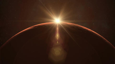 Mars Sunrise Animation
