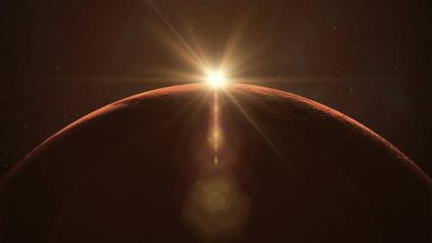 Mars Sunrise Animation