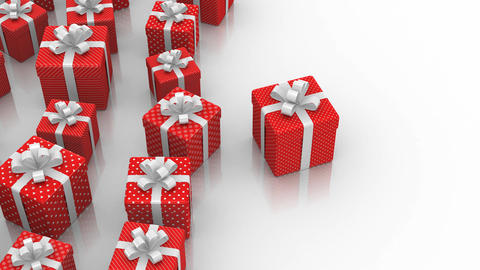 Animated Gift Boxes CG動画素材