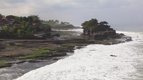 Bali Temple Waves Footage
