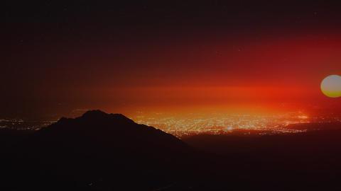 City light Sunrise CG動画素材