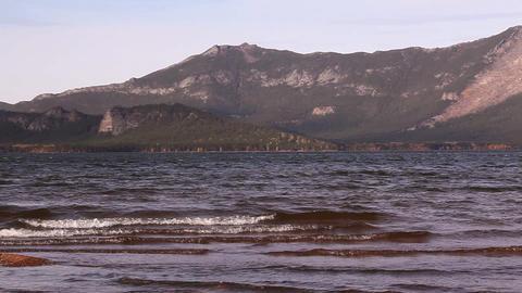 Panorama of Kokshetau ridge Footage
