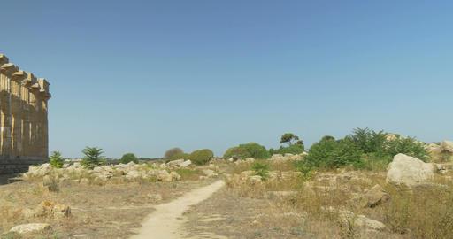 Selinunte, Hera Temple Pan Footage