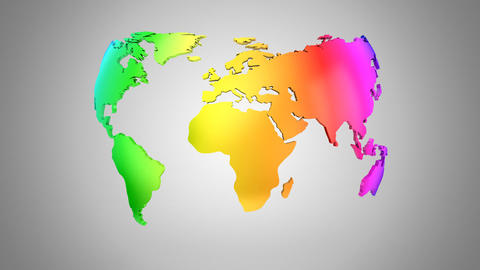 World Map Turns Into a Globe Animation