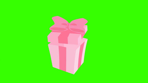 Animated Gift Box Opening and Closing: Loop + Matte Bild