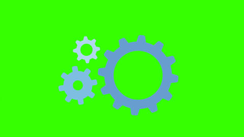 Gears Pop Up and Rotating Animation: Loop + Matte Animation