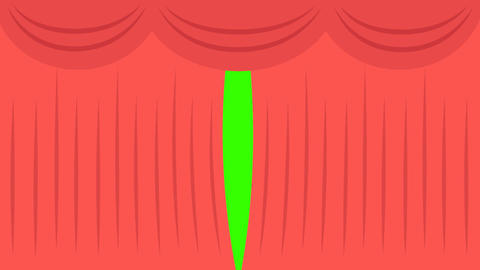 Theater Curtain Open/Close Green Screen Animation: Loop + Matte Animation