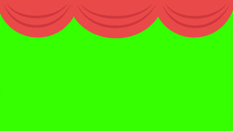 [alt video] Theater Curtain Open/Close Green Screen Animation: Loop +…