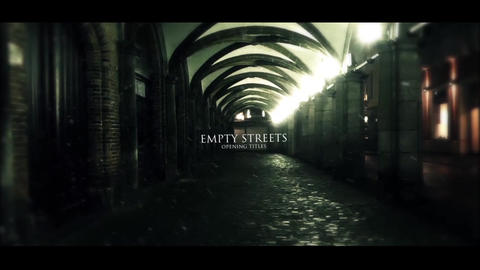 EMPTY STREETS ( opening titles ) After Effects Template