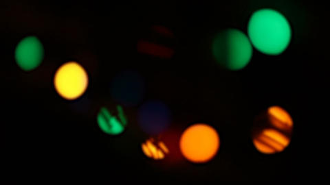 Defocused Christmas lights Footage