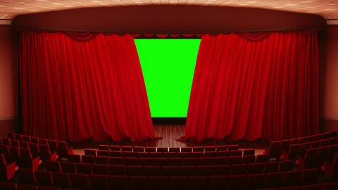 Opening theater (cinema) curtains Footage