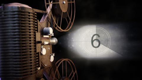 Vintage Film Projector Footage