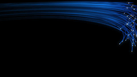 Optical fibers twisting and turning through space 4K Animation
