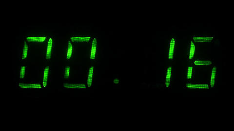 Digital countdown timer with an interval 30 seconds 00:30 - 00:00 digits green Footage